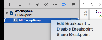 Editar breakpoint